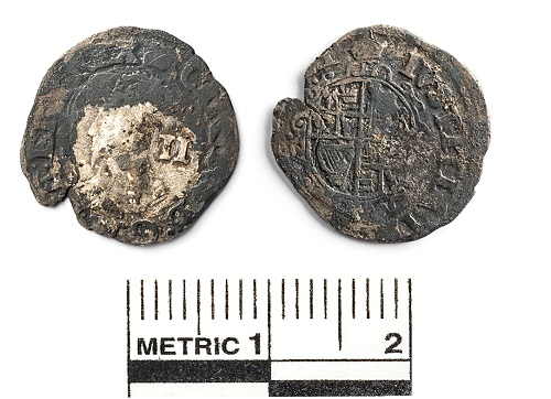 Coins found in the burial at St Cross' College, Oxford